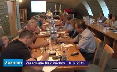 Zasadnutie MsZ dňa 8.júna 2015