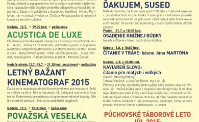 Kultúrne leto 2015 – JÚL