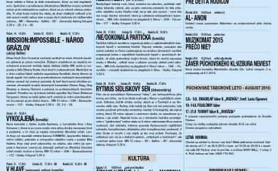 Program DK Púchov – AUGUST 2015